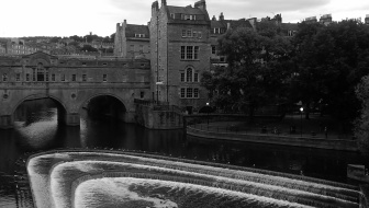 River Avon and weir, Bath