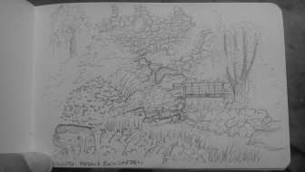 Sketch of Joseph Paxton's rock garden, Chatsworth
