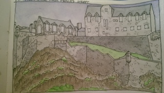 Sketch of Edinburgh Castle