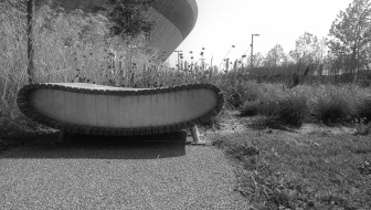Seat detail, Queen Elizabeth Olympic Park, Lodon