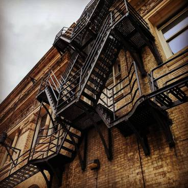 Fire escape on an academic building, Drexel University, Philadelphia