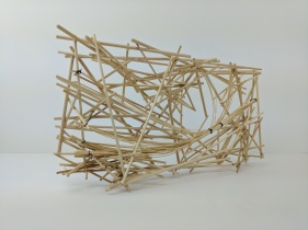 """8"""" X 16"""" X 3"""" River flow study model. Aggregate fractures to form composite form and void."""
